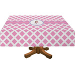 Diamond Print w/Princess Rectangle Tablecloth (Personalized)