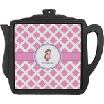 Diamond Print w/Princess Teapot Trivet (Personalized)