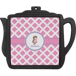 Diamond Print w/Princess Teapot Trivet (Personalized)