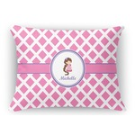 Diamond Print w/Princess Rectangular Throw Pillow (Personalized)
