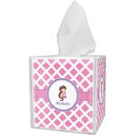 Diamond Print w/Princess Tissue Box Cover (Personalized)