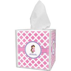 Diamond Print w/Princess Tissue Box Cover (Personalized)
