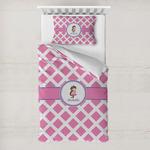 Diamond Print w/Princess Toddler Bedding w/ Name or Text