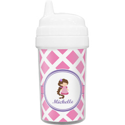 Diamond Print w/Princess Toddler Sippy Cup (Personalized)