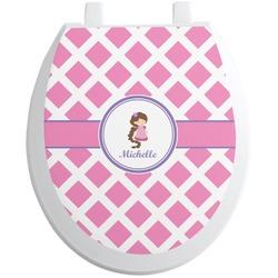 Diamond Print w/Princess Toilet Seat Decal (Personalized)
