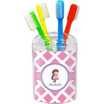 Diamond Print w/Princess Toothbrush Holder (Personalized)