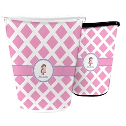 Diamond Print w/Princess Waste Basket (Personalized)