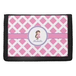 Diamond Print w/Princess Trifold Wallet (Personalized)