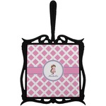 Diamond Print w/Princess Trivet with Handle (Personalized)
