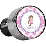 Diamond Print w/Princess USB Car Charger (Personalized)