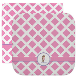 Diamond Print w/Princess Facecloth / Wash Cloth (Personalized)