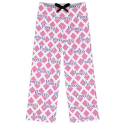 Diamond Print w/Princess Womens Pajama Pants (Personalized)