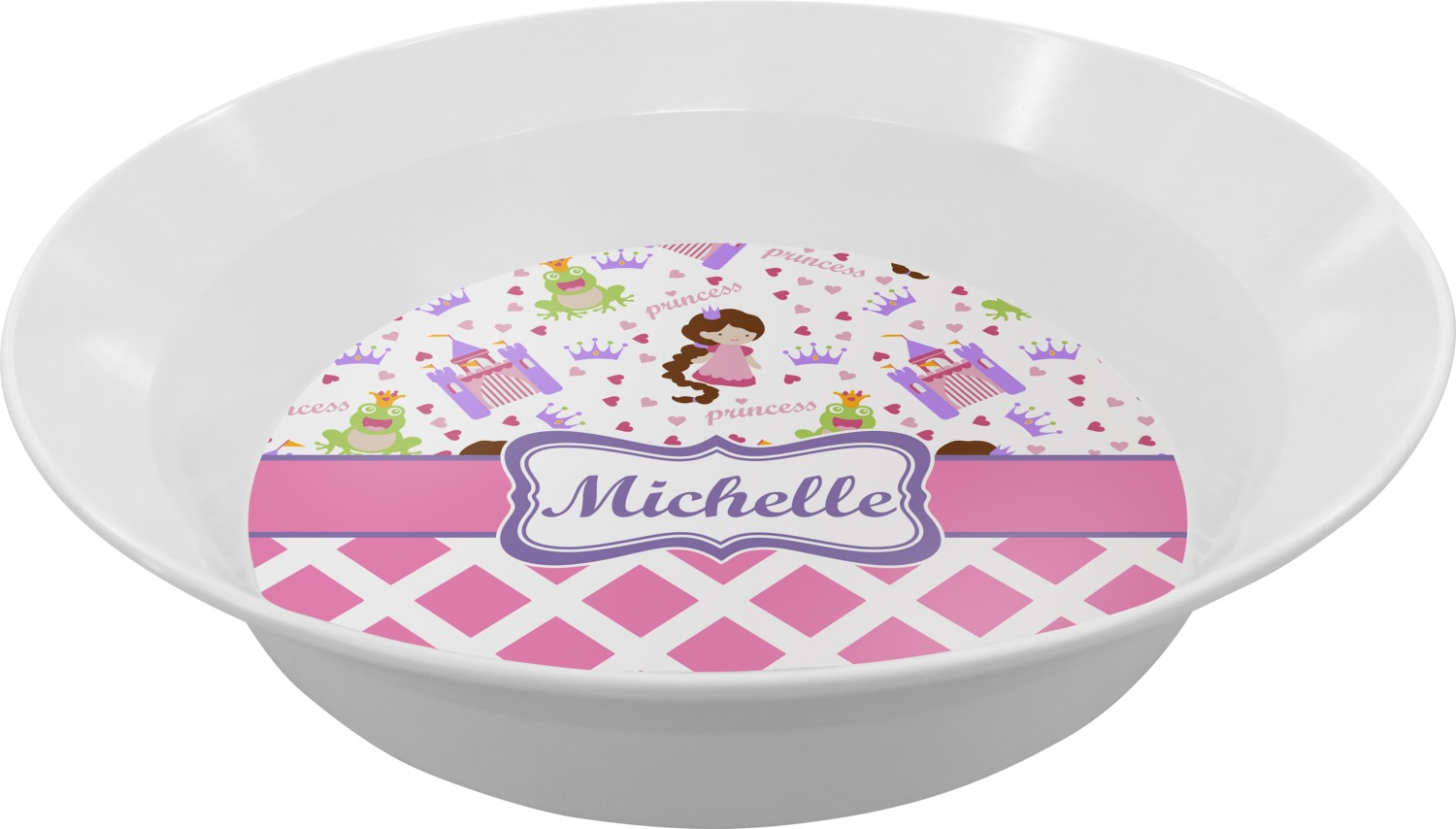 ... Princess u0026 Diamond Melamine Bowl (Personalized) ...  sc 1 st  YouCustomizeIt & Princess u0026 Diamond Print Dinner Set - 4 Pc (Personalized ...