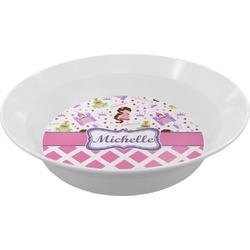 Princess & Diamond Print Melamine Bowl (Personalized)