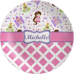 Princess & Diamond Print Melamine Plate (Personalized)