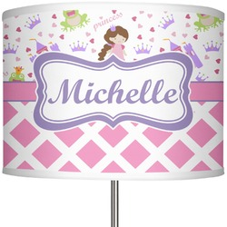 "Princess & Diamond Print 13"" Drum Lamp Shade (Personalized)"
