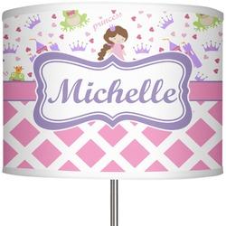 """Princess & Diamond Print 13"""" Drum Lamp Shade (Personalized)"""