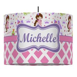 Princess & Diamond Print Drum Pendant Lamp (Personalized)