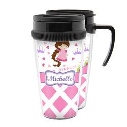 Princess & Diamond Print Acrylic Travel Mugs (Personalized)