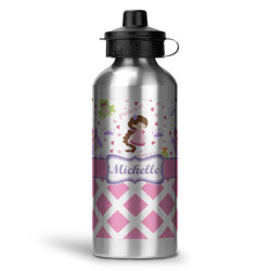 Princess & Diamond Print Water Bottle - Aluminum - 20 oz (Personalized)