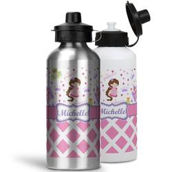 Princess & Diamond Print Water Bottles- Aluminum (Personalized)