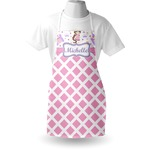 Princess & Diamond Print Apron (Personalized)