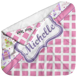 Princess & Diamond Print Baby Hooded Towel (Personalized)