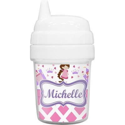 Princess & Diamond Print Baby Sippy Cup (Personalized)