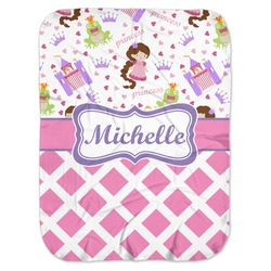 Princess & Diamond Print Baby Swaddling Blanket (Personalized)