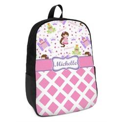 Princess & Diamond Print Kids Backpack (Personalized)
