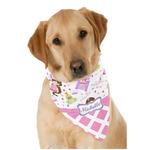 Princess & Diamond Print Dog Bandana Scarf w/ Name or Text