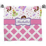 Princess & Diamond Print Full Print Bath Towel (Personalized)