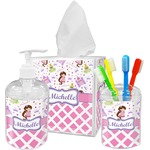 Princess & Diamond Print Bathroom Accessories Set (Personalized)