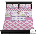 Princess & Diamond Print Duvet Cover Set (Personalized)
