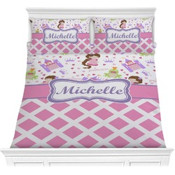 Princess & Diamond Print Comforter Set (Personalized)