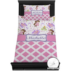 Princess & Diamond Print Duvet Cover Set - Toddler (Personalized)