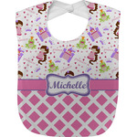 Princess & Diamond Print Baby Bib (Personalized)