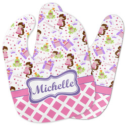 Princess & Diamond Print Baby Bib w/ Name or Text