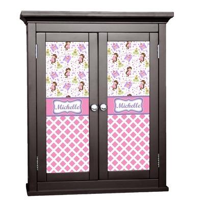 Princess & Diamond Print Cabinet Decal - Custom Size (Personalized)