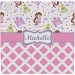 Princess & Diamond Print Ceramic Tile Hot Pad (Personalized)