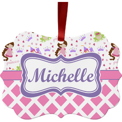 Princess & Diamond Print Ornament (Personalized)