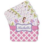 Princess & Diamond Print Cork Coaster - Set of 4 w/ Name or Text