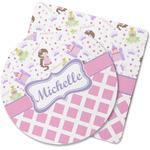 Princess & Diamond Print Rubber Backed Coaster (Personalized)