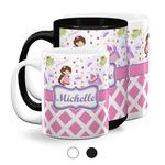Princess & Diamond Print Coffee Mugs (Personalized)