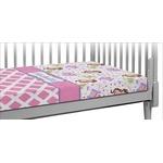Princess & Diamond Print Crib Fitted Sheet (Personalized)