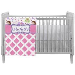 Princess & Diamond Print Crib Comforter / Quilt (Personalized)