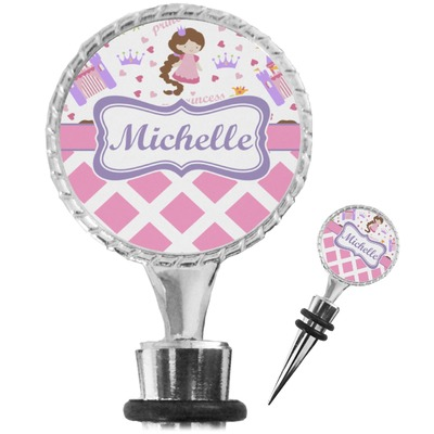 Princess & Diamond Print Wine Bottle Stopper (Personalized)