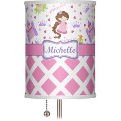 """Princess & Diamond Print 7"""" Drum Lamp Shade (Personalized)"""