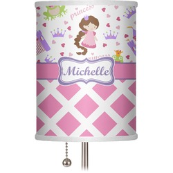 "Princess & Diamond Print 7"" Drum Lamp Shade (Personalized)"