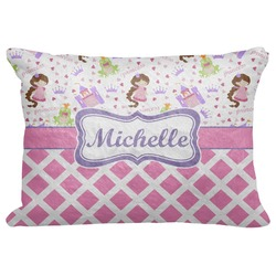 "Princess & Diamond Print Decorative Baby Pillowcase - 16""x12"" (Personalized)"